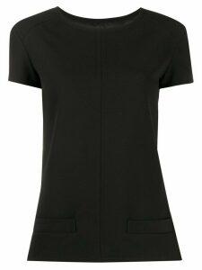 Courrèges plain fitted T-shirt - Black