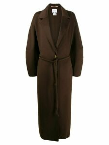 Nanushka Loane belted maxi coat - Brown