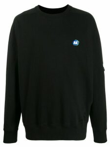 Ader Error oversized logo patch sweatshirt - Black