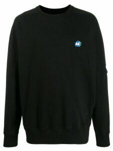 Ader Error oversized logo patch sweatshirt - Black