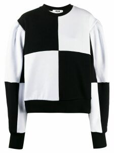 MSGM checked knitted jumper - Black