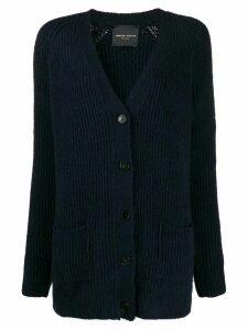Roberto Collina V-neck cable knit cardigan - Blue