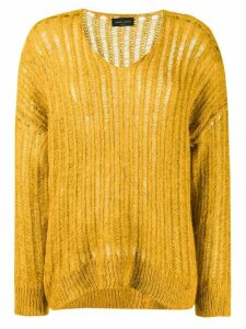 Roberto Collina curved hem jumper - Yellow