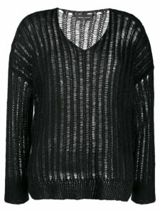 Roberto Collina intarsia knit jumper - Black