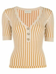 Nicholas striped pattern jersey top - Neutrals