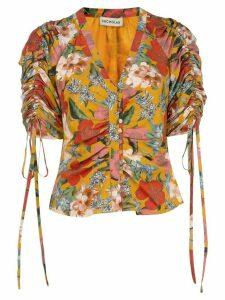 Nicholas floral print blouse - ORANGE
