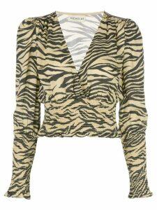 Nicholas zebra print blouse - Yellow
