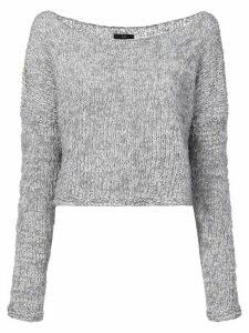 Voz Twist cropped sweater - Blue