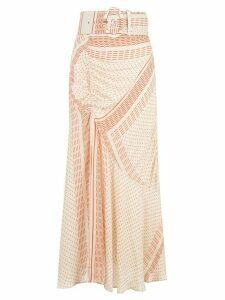 Nicholas pattern mix skirt - NEUTRALS