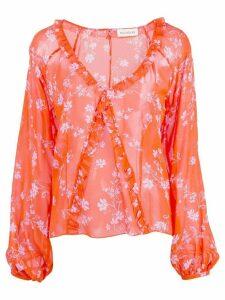 Nicholas Poppy print blouse - ORANGE