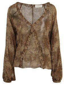 Nicholas dotted print top - Brown
