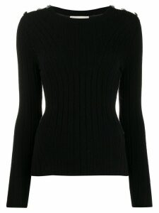 Alexander McQueen knitted slim-fit jumper - Black