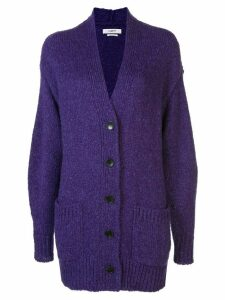 Isabel Marant Étoile oversized long cardigan - PURPLE