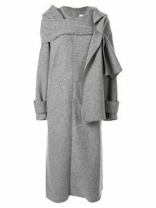G.V.G.V. jersey scarf coat - Grey