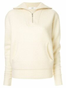 G.V.G.V. half-zip jumper - White
