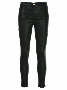 FRAME coated skinny jeans - Black