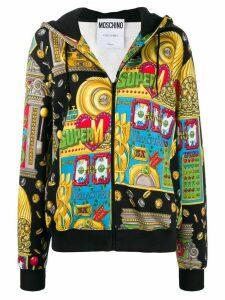 Moschino Slot Machine zipped hoodie - Black