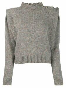 Isabel Marant Étoile buttoned shoulder jumper - Grey