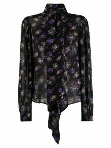 GANNI floral blouse - Black