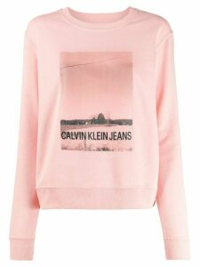Calvin Klein Jeans printed logo sweater - Pink