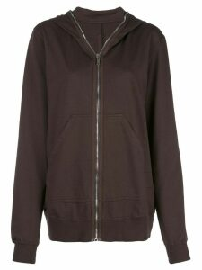 Rick Owens DRKSHDW zip-up hoodie - Brown