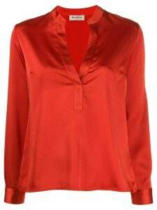 Blanca Vita split neck blouse - ORANGE