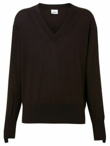 Burberry logo detail jumper - Brown