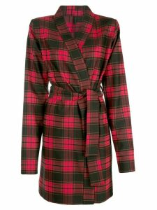 Unravel Project plaid belted coat - Red