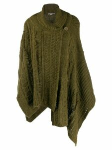 Stella McCartney chunky-knit shawl cardigan - Green