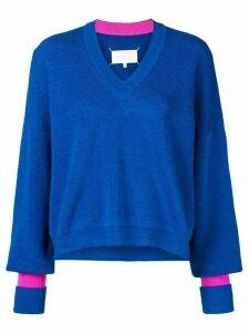Maison Margiela contrast cuff jumper - Blue