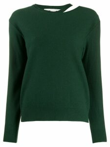 Stella McCartney split-neck boiled sweater - Green