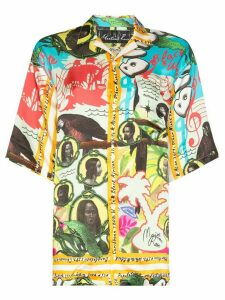 Martine Rose Hawaiian print collared shirt - Yellow