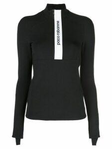 Paco Rabanne half zip logo sweatshirt - Black