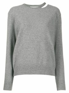Stella McCartney split-neck boiled sweater - Grey