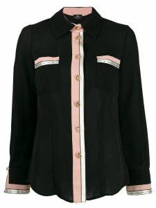 Elisabetta Franchi contrast-trimmed shirt - Black