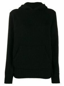 Woolrich knitted hoodie - Black
