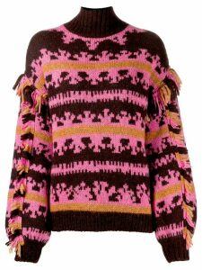 Ulla Johnson patterned chunky jumper - PINK