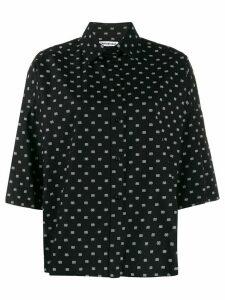 Balenciaga Vareuse printed shirt - Black