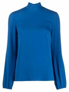 Theory stand-up collar blouse - Blue