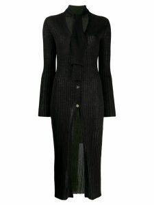 Just Cavalli ribbed button-up cardigan - Black