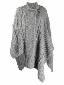 Stella McCartney chunky-knit shawl cardigan - Grey