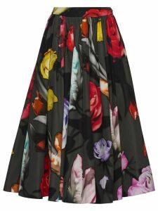 Prada floral midi skirt - Black