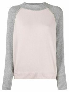 D.Exterior two-tone sweater - PINK