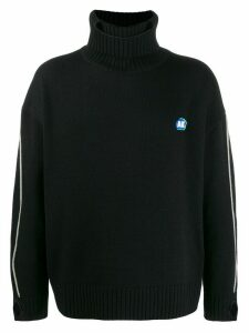 Ader Error Dumb oversized turtleneck jumper - Black