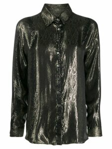 Redemption button up silk shirt - GOLD