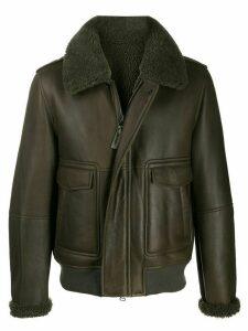 YVES SALOMON HOMME fully-lined zip-up jacket - Green
