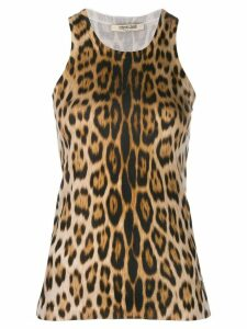 Roberto Cavalli leopard print silk top - Brown