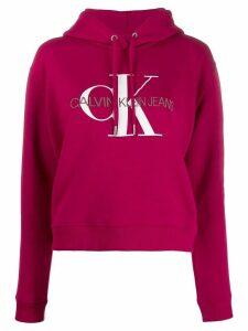 Calvin Klein Jeans logo print hoodie - Red
