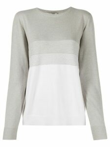D.Exterior two-tone sweater - Grey