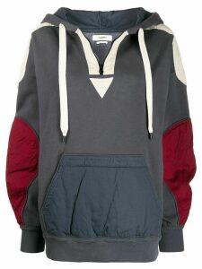Isabel Marant Étoile patchwork hoodie - Blue